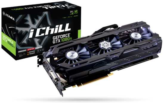 geforce gtx 1080ti inno3d i ichill x4 11Gb. В наличии 8 штук